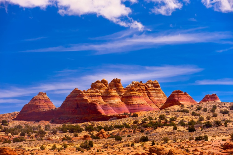 North teepees, Coyotte Buttes North, Paria Canyon-Vermillion Cliffs Wilderness Area, Utah-Arizona border, USA